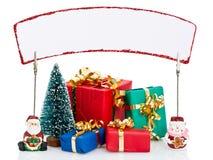 Cadeaux de Noël et signe images libres de droits