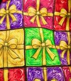 Cadeaux de Noël pour votre papier peint photos stock