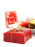 Cadeaux de Saint-Valentin (l'espace de copie) Image stock