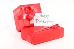 Cadeaux de thanksgiving images libres de droits