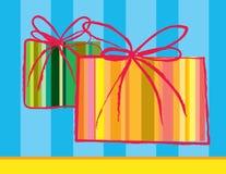 cadeaux deux Photographie stock libre de droits