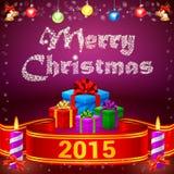 Cadeaux du ruban 2015 et du Joyeux Noël Images stock