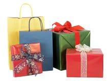 Cadeaux enveloppés Images libres de droits