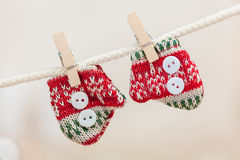 Cadeaux et décoration de Noël Photos libres de droits