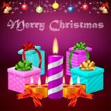 Cadeaux et 2015 de Joyeux Noël Image stock