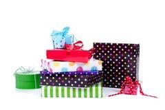 Cadeaux et présents colorés Photo libre de droits
