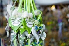 Cadeaux et souvenirs de coeur Images libres de droits