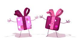 Cadeaux heureux illustration stock