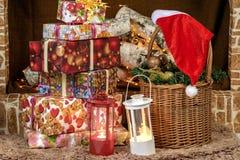 Cadeaux pendant la nouvelle année Photo stock