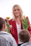 Cadeaux pour le jour de mères Photographie stock libre de droits