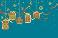 Cadeaux pour Noël Photographie stock libre de droits