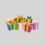 cadeaux présents 3d Photos libres de droits