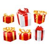 Cadeaux réglés Vecteur Images stock