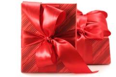Cadeaux rouges Photo libre de droits