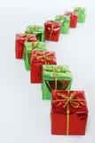 Cadeaux rouges et verts Image libre de droits