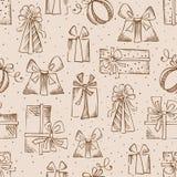 Cadeaux sans couture de crayon de croquis Image stock