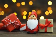 cadeaux Santa de Claus de Noël Carte de Noël photo libre de droits