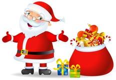 cadeaux Santa de Noël de sac Illustration de Vecteur