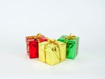cadeaux trois de Noël Image stock