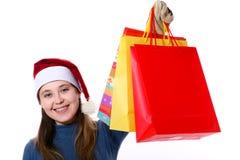 cadeaux trois de Noël image libre de droits