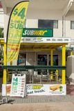 Cadeia alimentar de fast food do restaurante do metro em Philipsburg Sint Maarten foto de stock royalty free