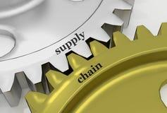 Cadeia de aprovisionamento no aMechanism da prata e do bronze Ilustração Stock