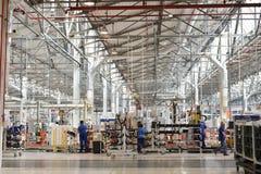 Cadeia de fabricação do auto motor Imagens de Stock Royalty Free