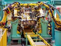 Cadeia de fabricação do carro Fotografia de Stock Royalty Free