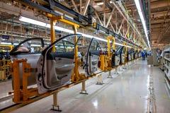 Cadeia de fabricação do carro de Changan do ramo do Pequim do automóvel de Changan foto de stock