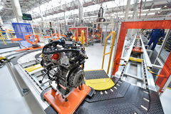 Cadeia de fabricação do carro de motores Foto de Stock