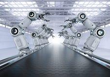 Cadeia de fabricação do robô imagem de stock royalty free