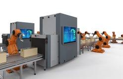 Cadeia de fabricação do robô ilustração stock