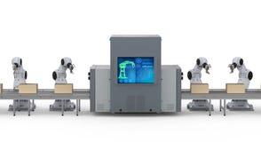Cadeia de fabricação do robô imagens de stock royalty free