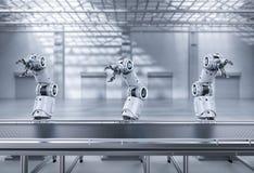 Cadeia de fabricação do robô foto de stock