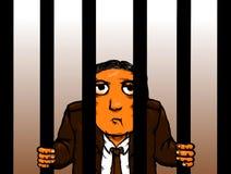 Cadeia encarcerada C do crime do colar prisioneiro branco político criminoso Fotografia de Stock Royalty Free