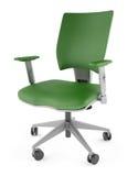 cadeira 3D verde em um fundo branco Imagens de Stock Royalty Free