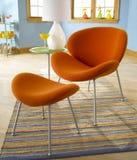 Cadeira alaranjada Foto de Stock Royalty Free