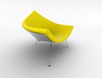 Cadeira amarela ilustração royalty free