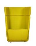 Cadeira amarela de giro do escritório Foto de Stock