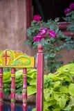Cadeira antiga colorida fotografia de stock