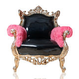 Cadeira antiga isolada Imagem de Stock Royalty Free