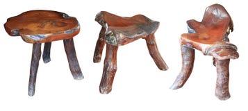 Cadeira antiga isolada no branco Imagem de Stock Royalty Free