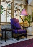 Cadeira antiga roxa Imagem de Stock Royalty Free