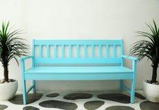 Cadeira azul Fotografia de Stock Royalty Free