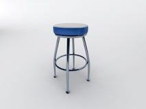 Cadeira azul da barra ilustração royalty free