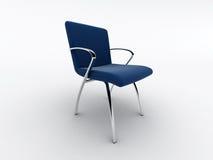 Cadeira azul do escritório ilustração stock