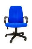 Cadeira azul do escritório isolada Foto de Stock