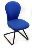 Cadeira azul do escritório isolada no branco Fotografia de Stock Royalty Free