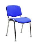 Cadeira azul do escritório Isolado imagem de stock