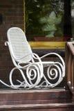 Cadeira branca em um patamar Foto de Stock Royalty Free